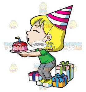 Happy birthday to a nice person clipart graphic freeuse library A Happy Birthday Girl Making A Wish graphic freeuse library
