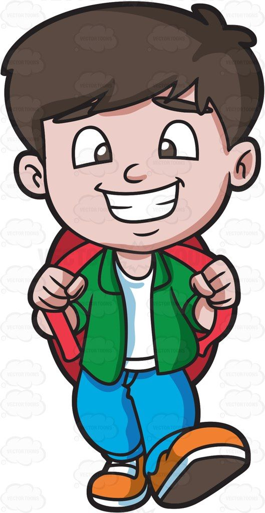 Happy boy clipart banner freeuse A happy boy going on a weekend trip : A boy with black hair wearing ... banner freeuse