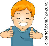 Happy boy thumbs up clipart