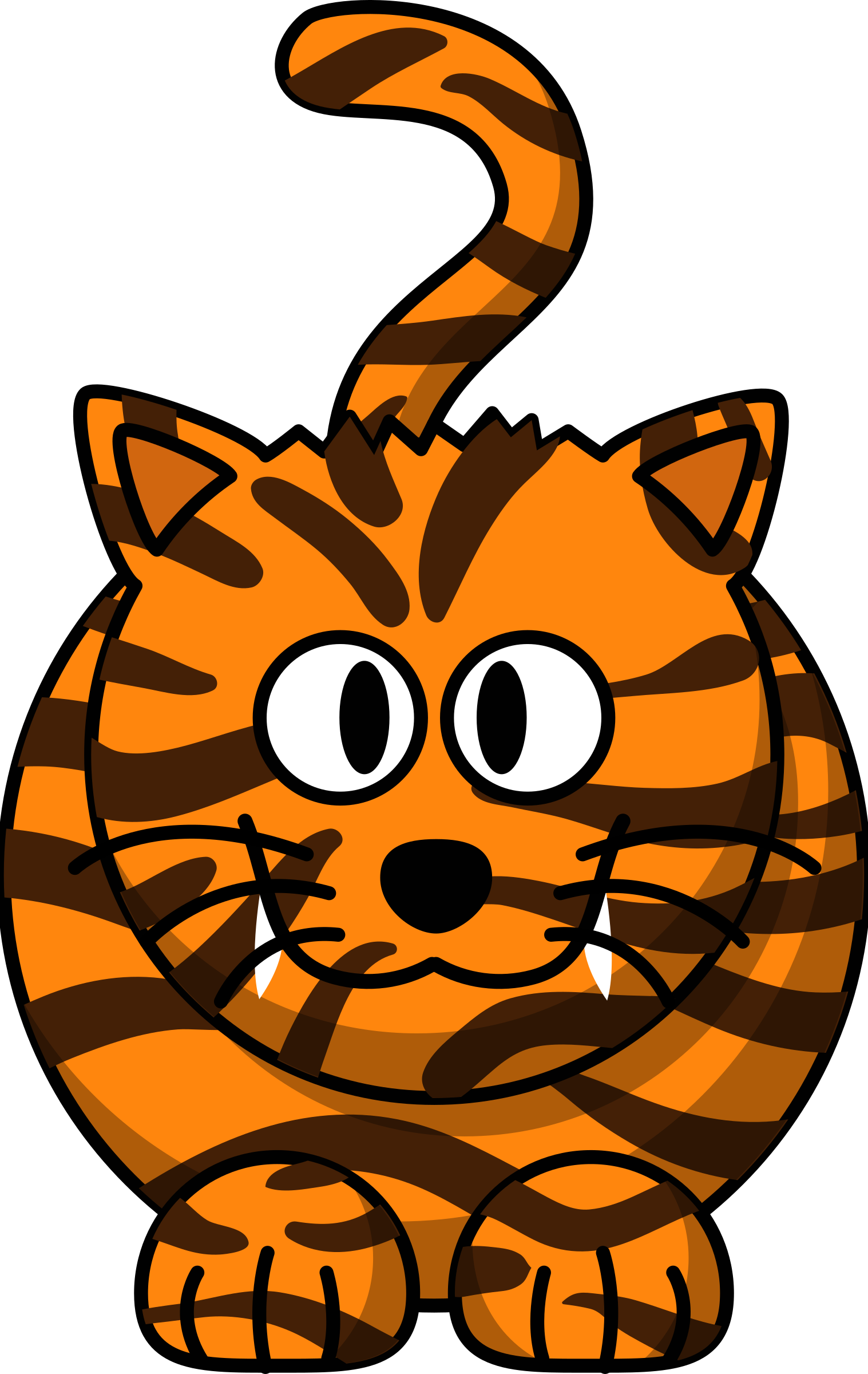 Happy cat face clipart jpg library download Clipart - Cartoon Tiger jpg library download