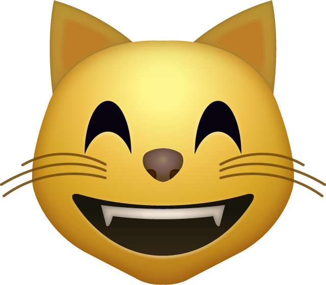 Happy cat face clipart clipart royalty free Download Happy cat Iphone Emoji Icon in JPG and AI | Emoji Island clipart royalty free