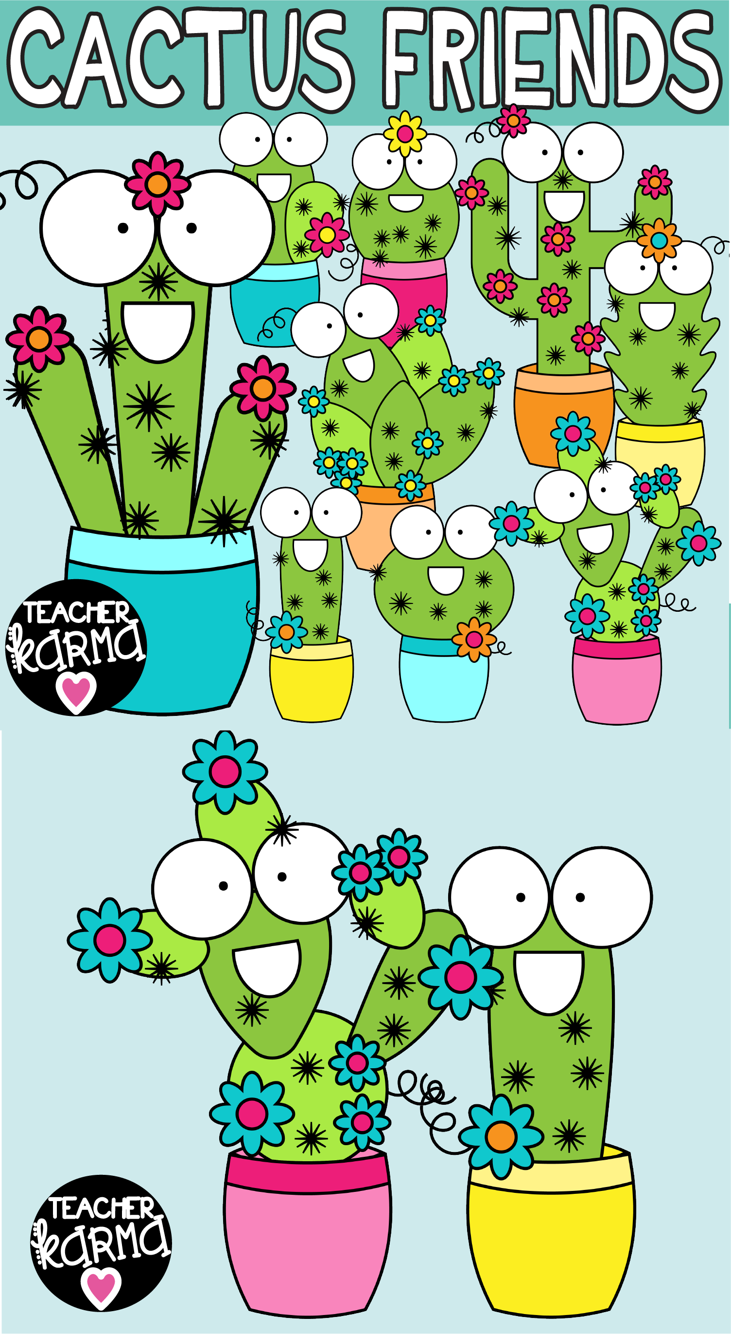 Happy classroom clipart png royalty free download Cactus Clipart, Happy Friends | TK Clipart for Teachers | Friends ... png royalty free download