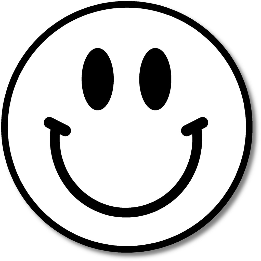 Happy clipart black and white face picture free Happy face clipart black and white » Clipart Portal picture free