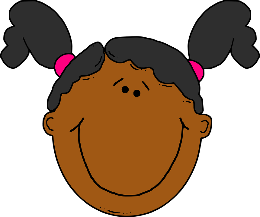 Happy clipart girl black clip free stock Girl Face Head Free Vector Graphic On - Happy Black Girl Clipart ... clip free stock