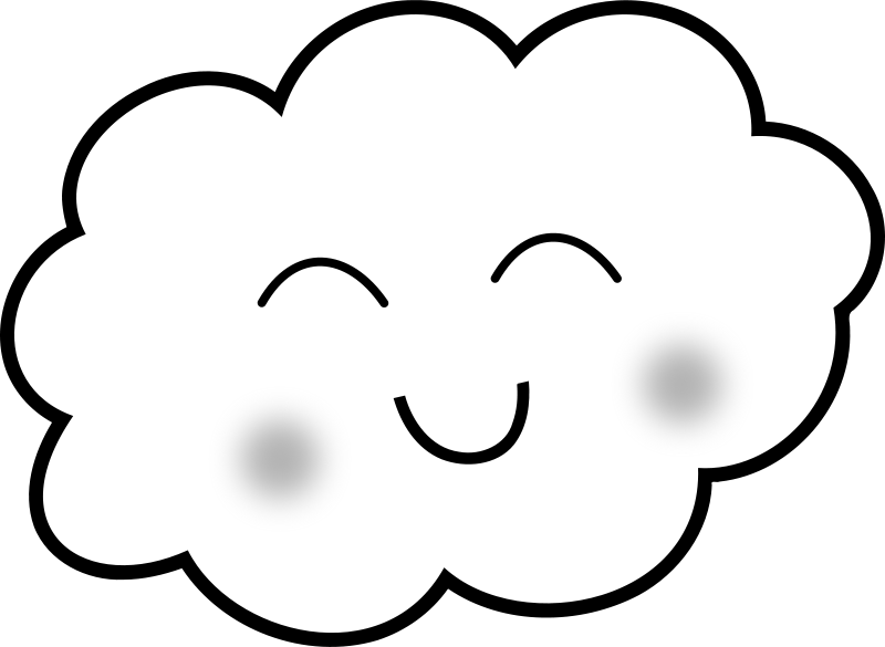 Happy cloud clipart clip transparent stock Free Clipart: Happy Cloud - Coloring Book | uroesch clip transparent stock