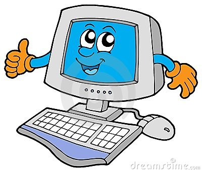 Happy computer user clipart