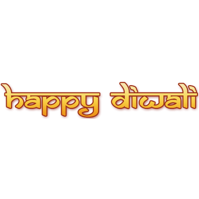 Happy diwali clipart text effect