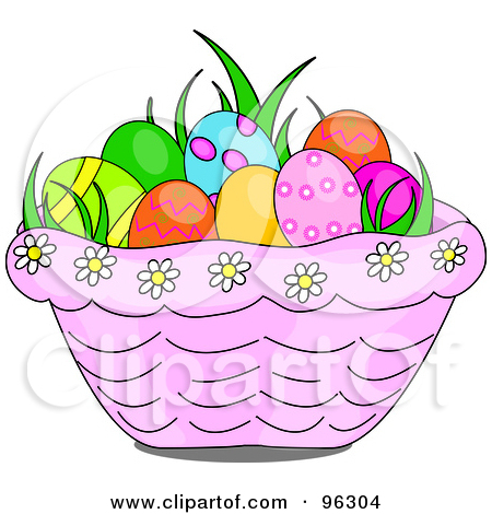Happy easter basket clipart jpg transparent download Royalty-Free (RF) Clipart Illustration of a Happy Easter Greeting ... jpg transparent download