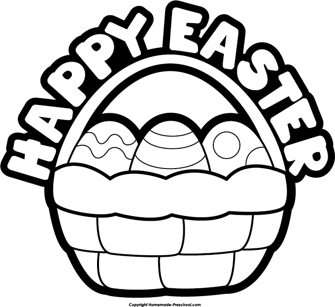 Happy easter basket clipart royalty free Easter basket clipart black and white - ClipartFest royalty free