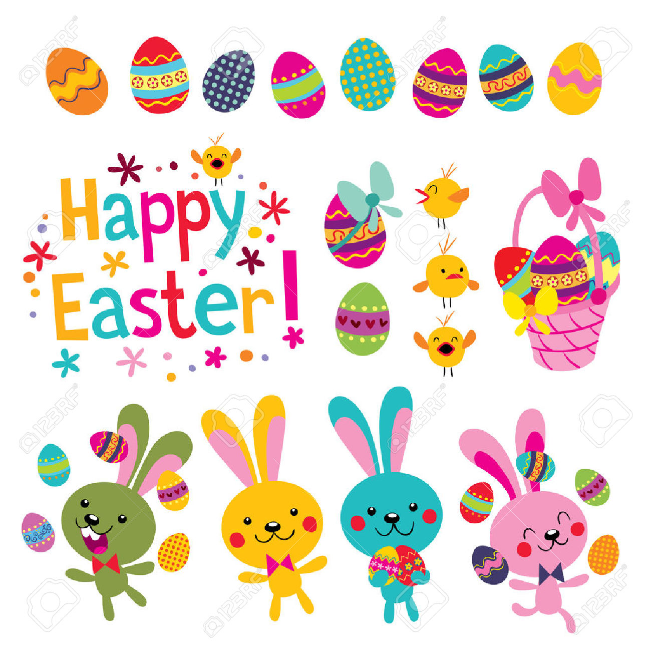 Happy easter basket clipart image free library 13,656 Easter Basket Cliparts, Stock Vector And Royalty Free ... image free library