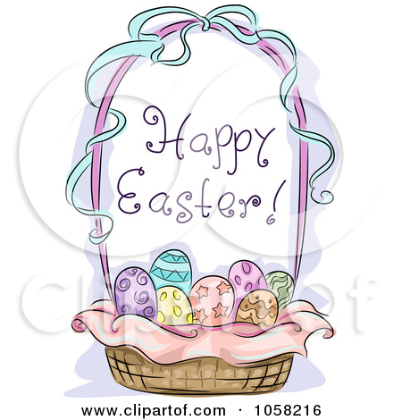 Happy easter basket clipart clip royalty free Happy easter basket clipart - ClipartFox clip royalty free