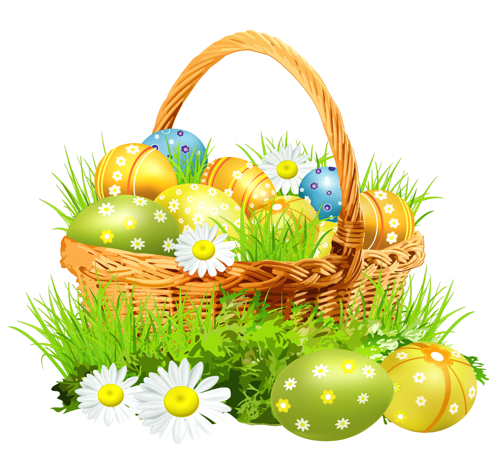 Happy easter basket clipart jpg black and white stock Free easter basket clipart - ClipartFest jpg black and white stock