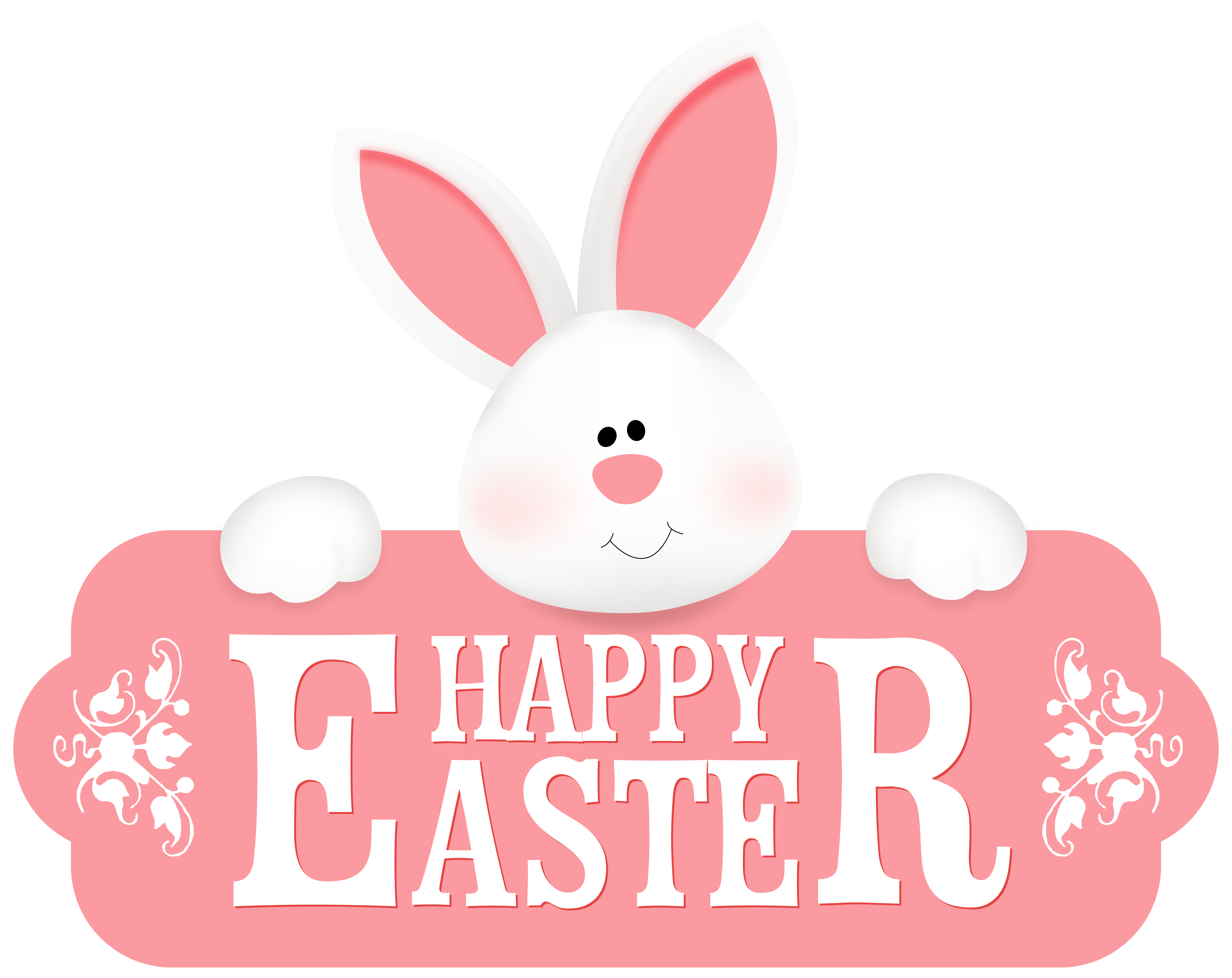 Happy easter pictures clipart image black and white library Happy easter with bunny clipart image - ClipartBarn image black and white library