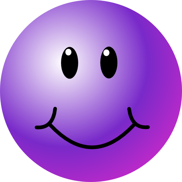 Happy face flower clipart jpg black and white Purple Smiley Face Clip Art at Clker.com - vector clip art online ... jpg black and white