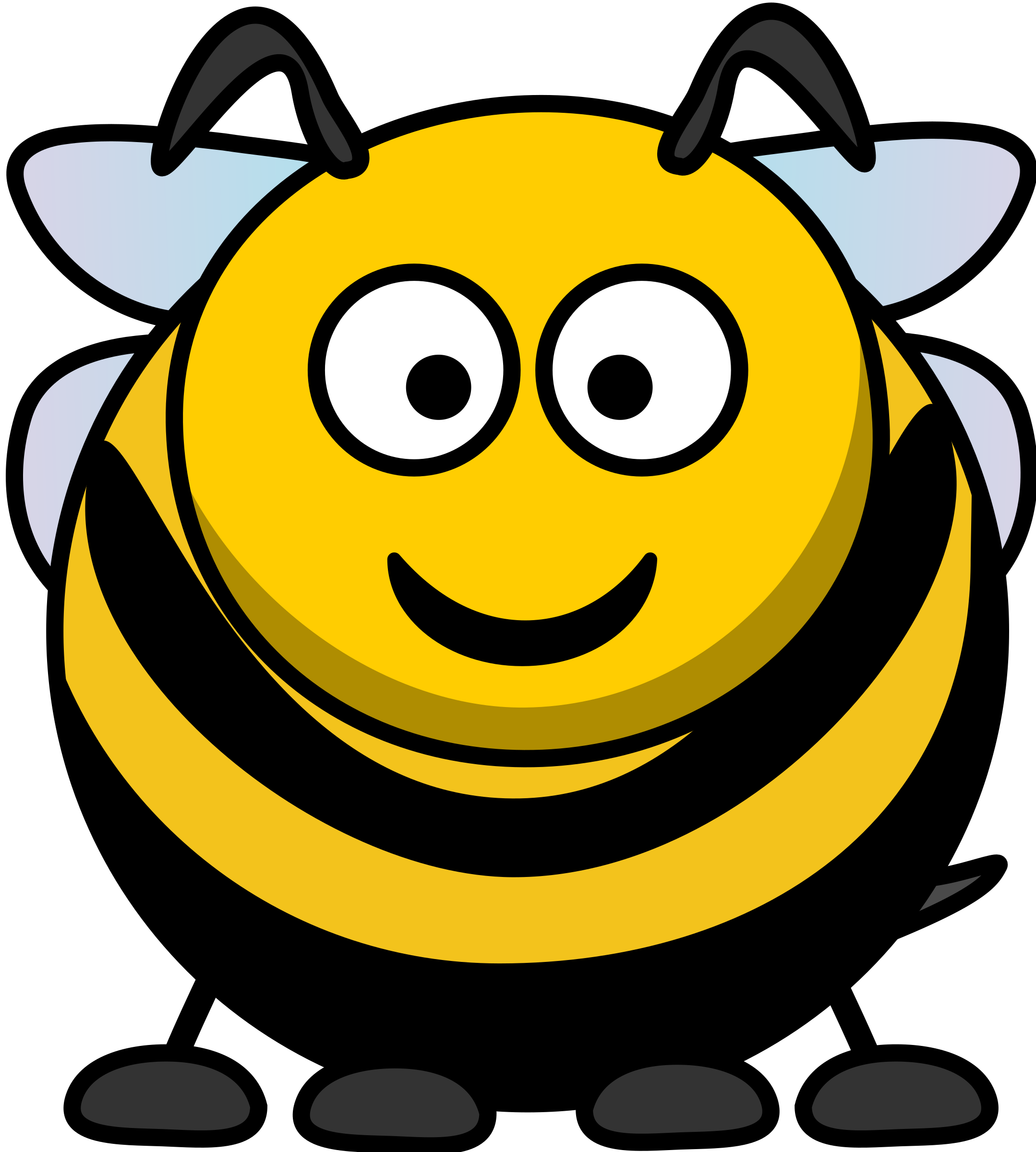 Happy face flower clipart graphic black and white stock Face Clipart bee - Free Clipart on Dumielauxepices.net graphic black and white stock