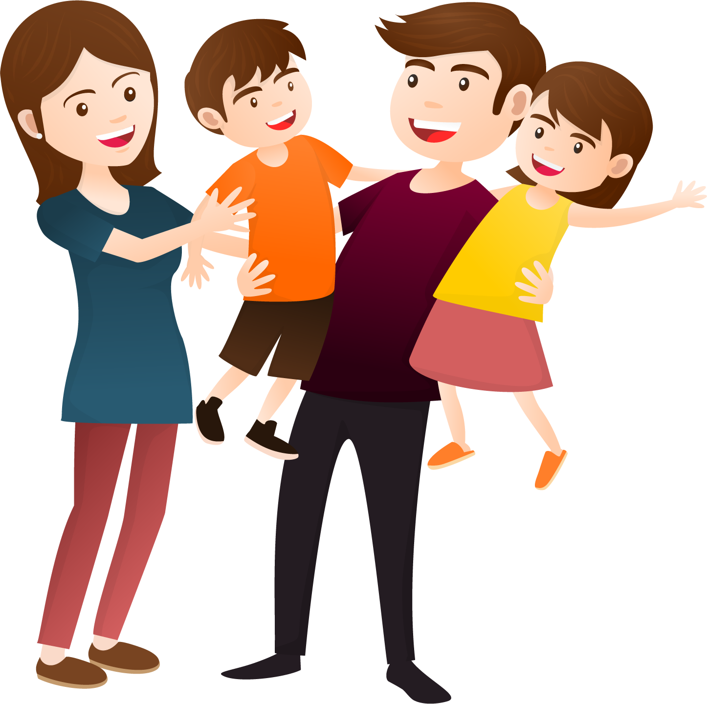 Happy family house clipart picture free download Happy Family Clipart (45+) Desktop Backgrounds picture free download
