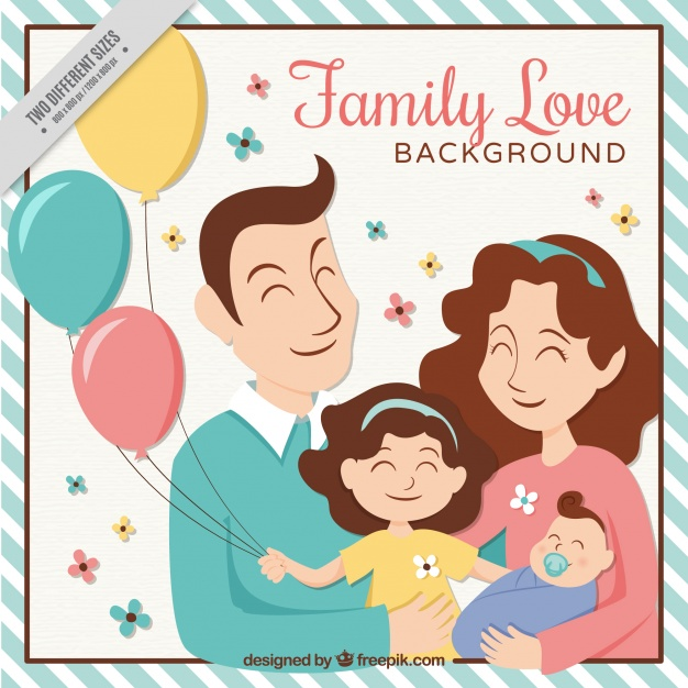 Happy family of 5 clipart 2 girls and 1 boy clip art transparent download Family Vectors, Photos and PSD files | Free Download clip art transparent download