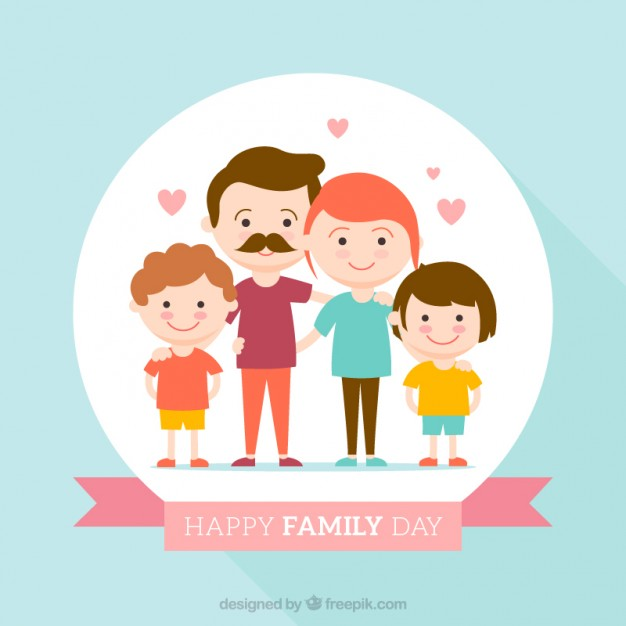 Happy family of 5 clipart 2 girls and 1 boy jpg library stock Family Vectors, Photos and PSD files | Free Download jpg library stock