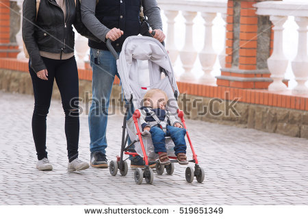 Happy family of 5 clipart 2 girls and 1 boy clipart stock Stroller Stock Images, Royalty-Free Images & Vectors | Shutterstock clipart stock