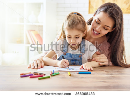 Happy family of 5 clipart 2 girls and 1 boy jpg freeuse download Kids Drawing Stock Images, Royalty-Free Images & Vectors ... jpg freeuse download