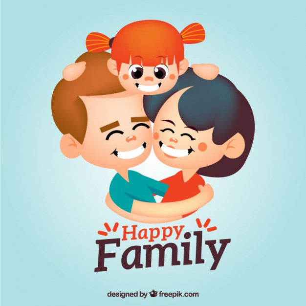 Happy family of 5 clipart 2 girls and 1 boy transparent Family Vectors, Photos and PSD files | Free Download transparent