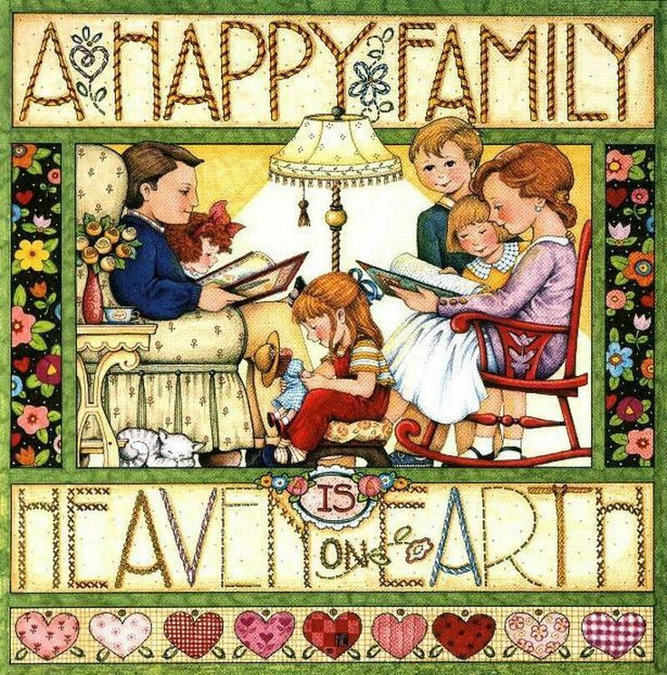 Happy family of 5 clipart 2 girls and 1 boy clip library library 17 Best images about MARY ENGELBREIT on Pinterest | Artworks ... clip library library