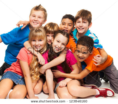 Happy family of 5 clipart 2 girls and 1 boy graphic royalty free download Kids Stock Images, Royalty-Free Images & Vectors | Shutterstock graphic royalty free download