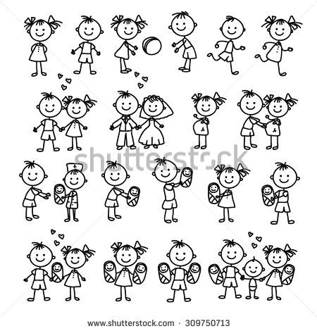 Happy family of 5 clipart 2 girls and 1 boy free download Top 25 ideas about Stick Figure Family on Pinterest | Stick family ... free download