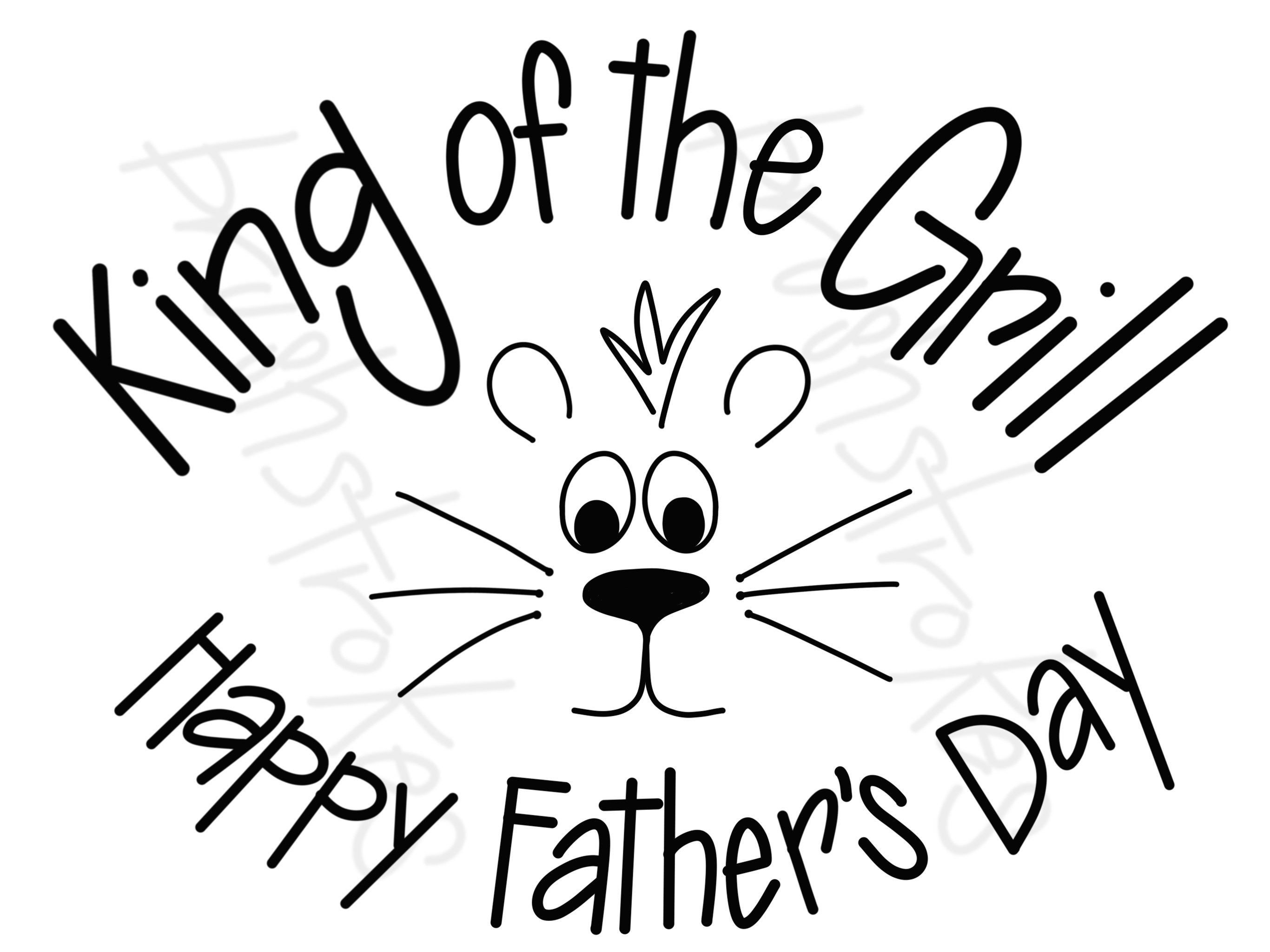 Happy fathers day black and white clipart picture royalty free library King of the Grill - Happy Father\'s Day Silk Screen picture royalty free library