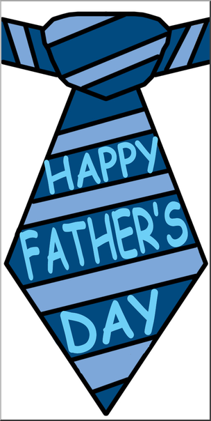 Happy fathers day blue and green clipart jpg black and white library Clip Art: Happy Father\'s Day Tie Color I abcteach.com | abcteach jpg black and white library