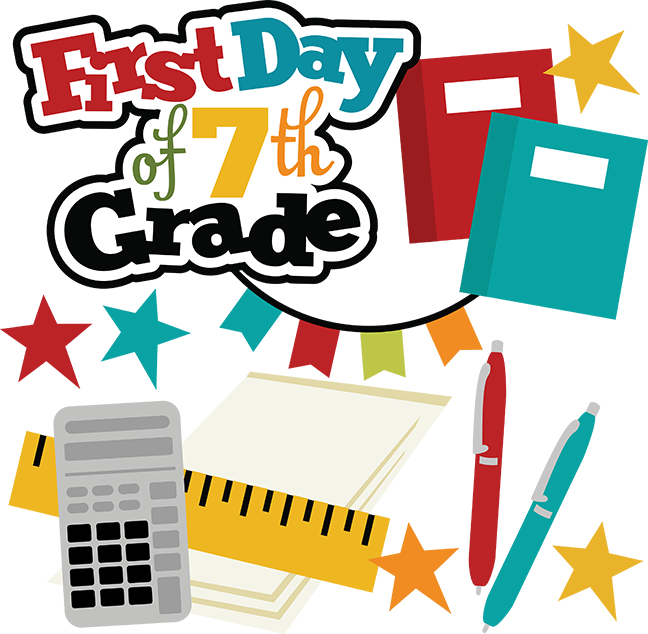 Happy first day of school clipart clipart library stock First Day Of 7th Grade SVG school svg files for scrapbooking free ... clipart library stock