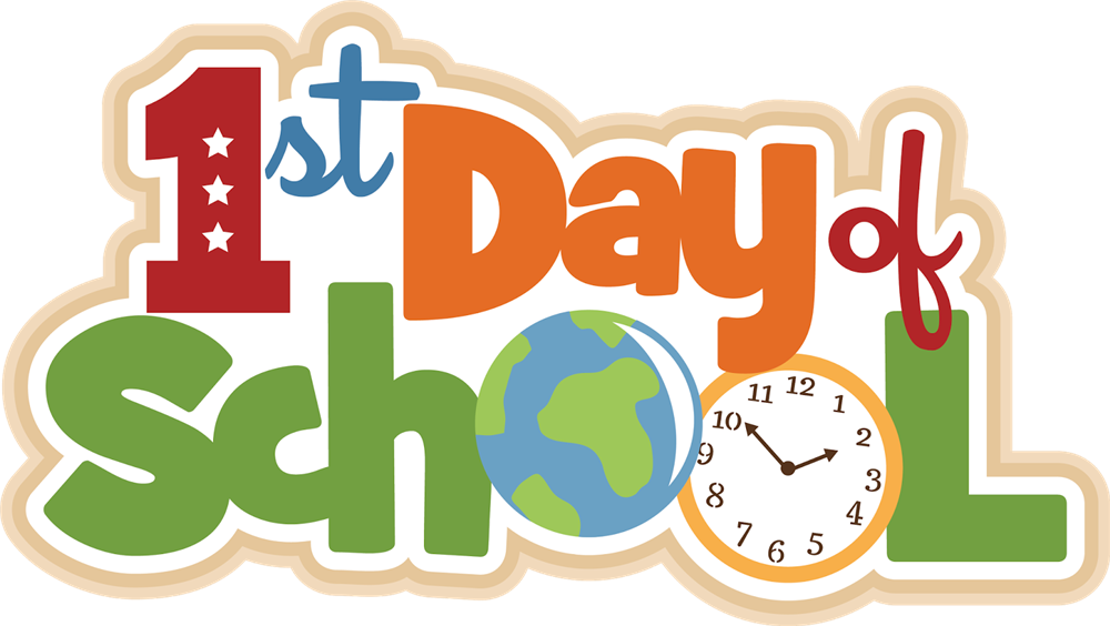 Happy first day of school clipart vector freeuse stock 1st Day of School - Castle View Elementary vector freeuse stock