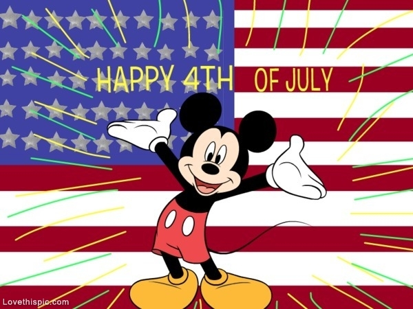 Happy fourth of july clipart for facebook svg transparent Mickey Mouse Happy 4th Of July Pictures, Photos, and Images for ... svg transparent