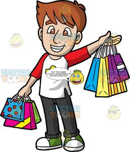 Happy guy clipart clipart library download A Happy Guy Out Shopping clipart library download