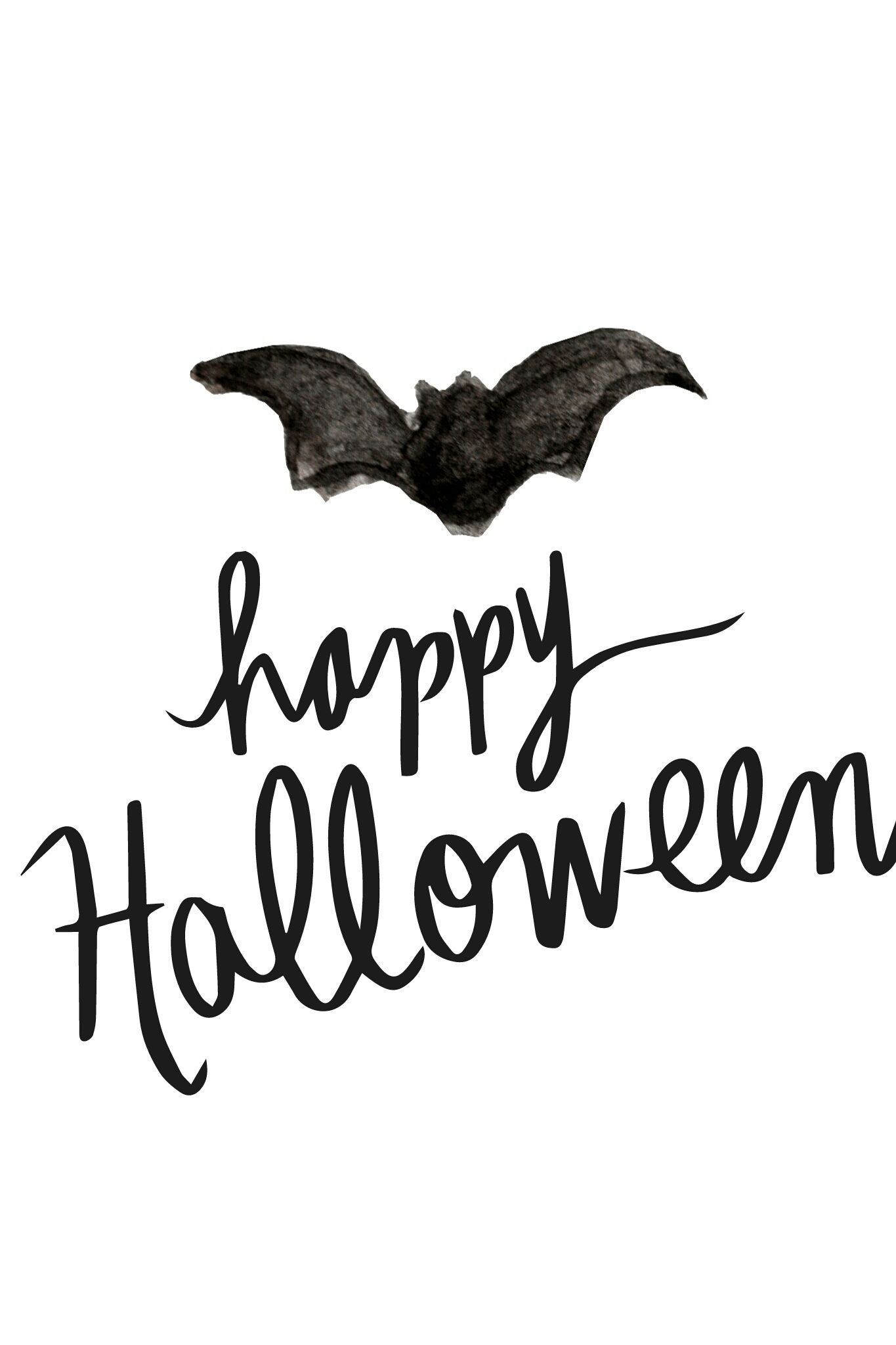 Happy halloween card clipart black and white banner free download Happy Halloween - Free Printable Calendar, Blank Template, High ... banner free download