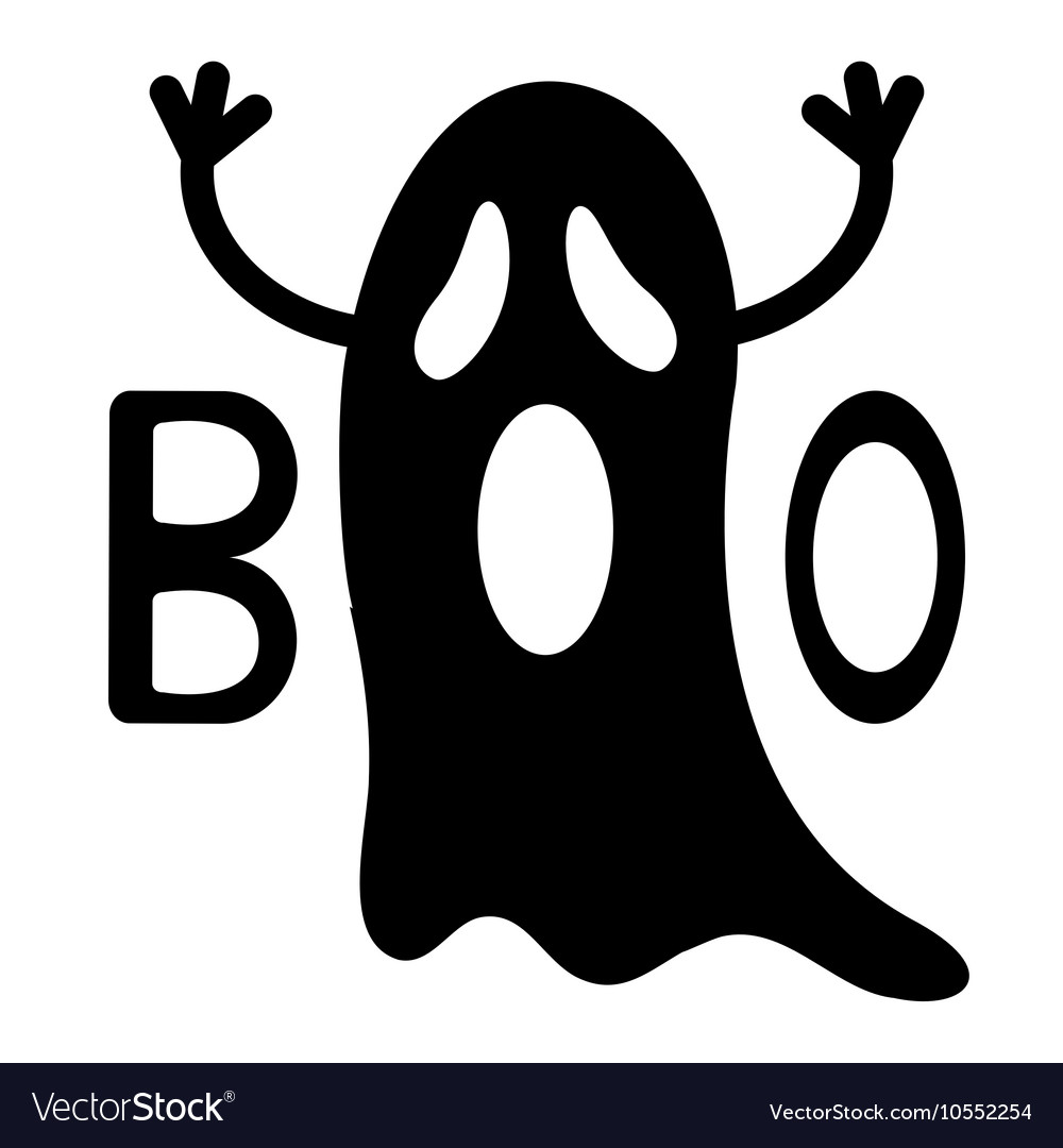 Happy halloween card clipart black and white png black and white stock Happy Halloween Funny black flying ghost with png black and white stock