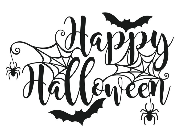 Happy halloween card clipart black and white download 14 Free Halloween Fonts download