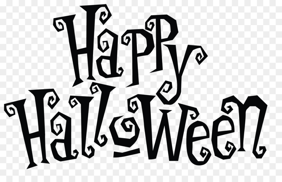Happy halloween card clipart black and white image library download Halloween Greeting card Illustration - Vector Black Skull png ... image library download
