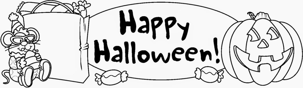 Happy halloween card clipart black and white image library library Halloween Clipart Black And White - Clipart Junction image library library