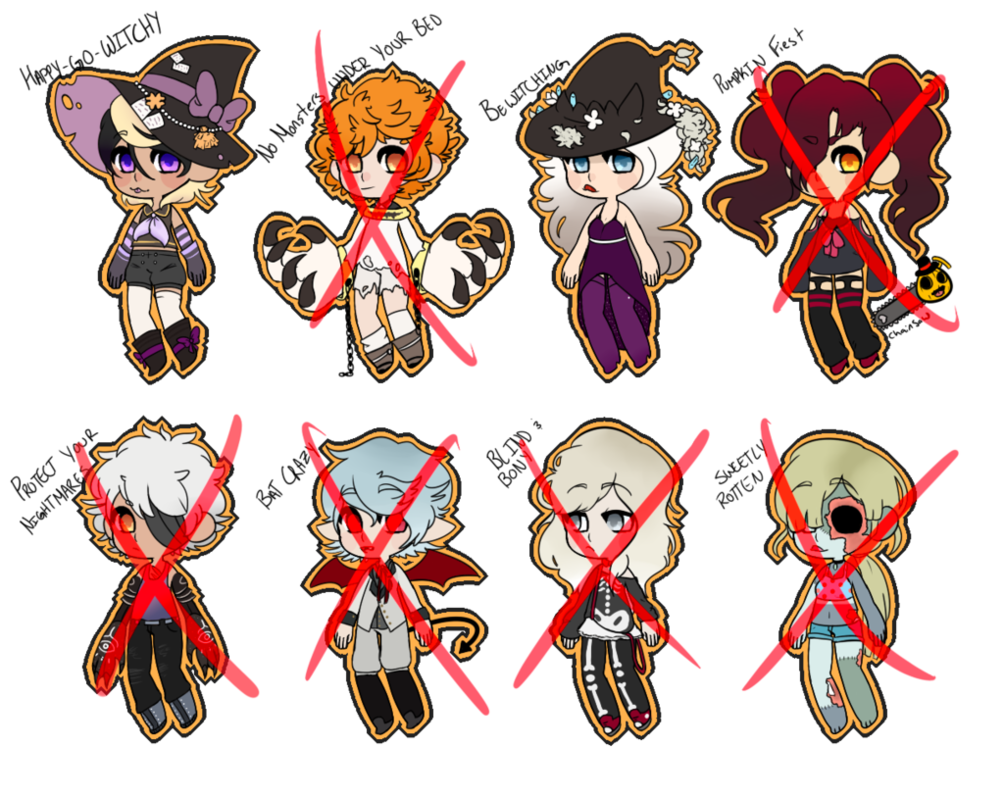 Happy halloween clipart 400 x 150 pixels clipart royalty free stock Halloween Adopts Open (1/8) by Carter-Complex on DeviantArt clipart royalty free stock