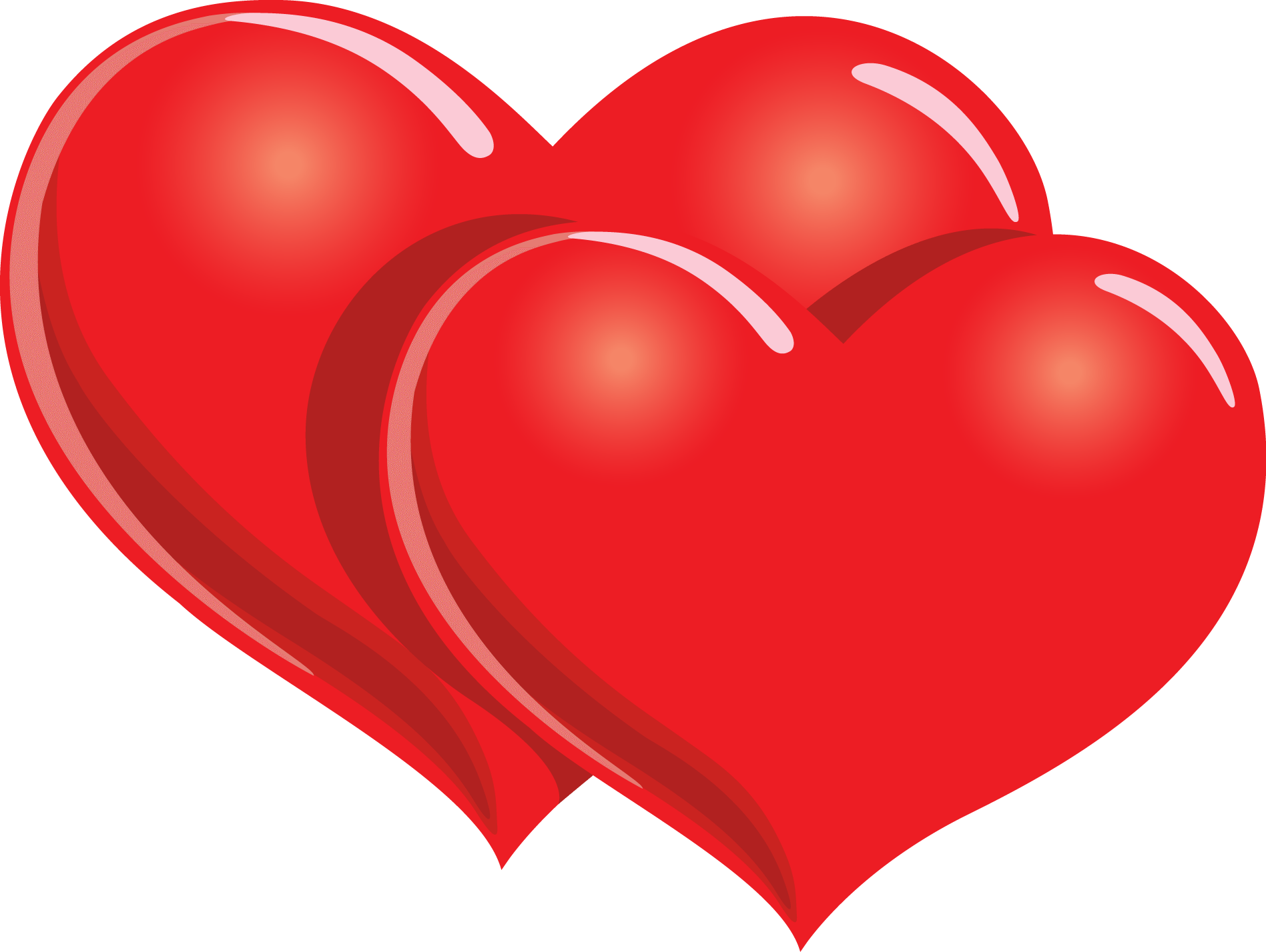 Happy heart clipart picture free Happy Valentines Two Hearts transparent PNG - StickPNG picture free