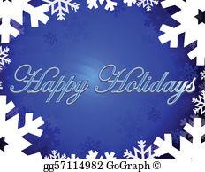 Happy holidays free clipart jpg royalty free library Happy Holidays Clip Art - Royalty Free - GoGraph jpg royalty free library