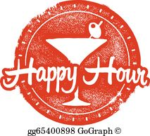 Happy hour clipart png transparent stock Happy Hour Clip Art - Royalty Free - GoGraph png transparent stock