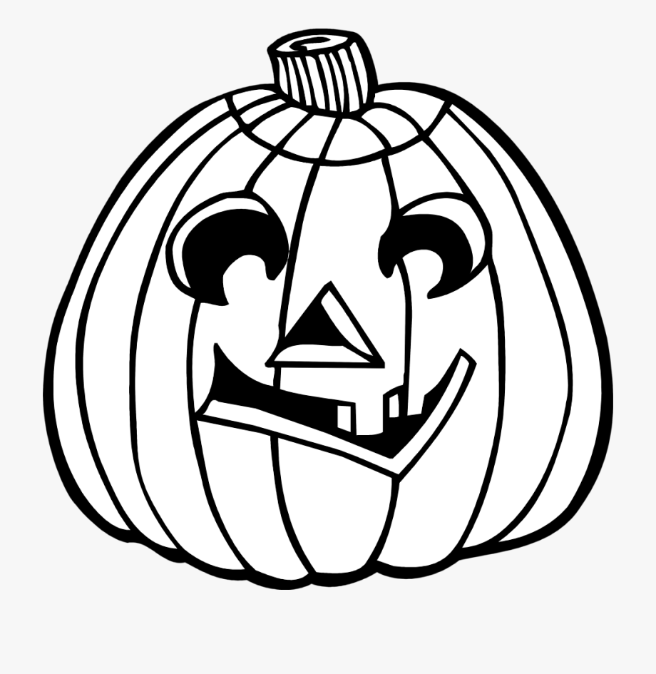 Jack or lanter clipart black and white banner transparent library Illustration Of Jack O Lantern - Halloween Clipart Black And White ... banner transparent library