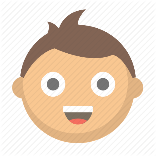 Happy kid face clipart jpg free download \'People Emoji\' by Flaticons LLC jpg free download