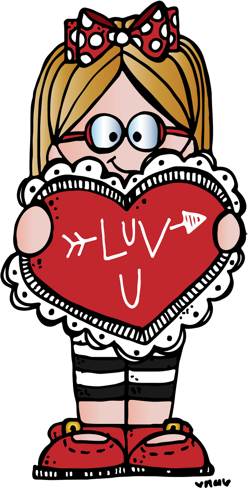 Happy last day of school clipart jpg black and white Happy Valentine's Day my friends! xox Nikki | MelonHeadz | Pinterest ... jpg black and white