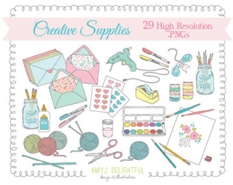 Happy mail clipart picture freeuse library HAPPY MAIL Handmade Love Clip Art Set for by amyjdelightful - Clip ... picture freeuse library