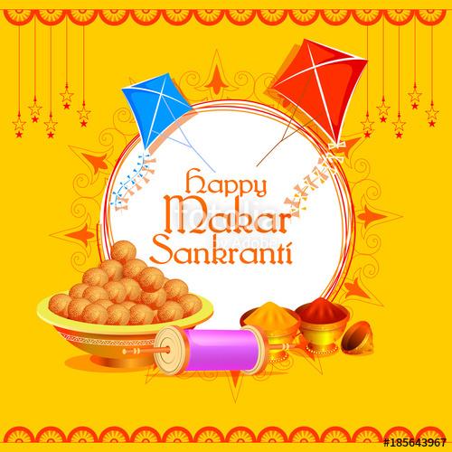 Happy makar sankranti clipart svg free download Happy Makar Sankranti holiday India festival background\