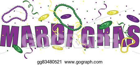 Happy mardi gras clipart png transparent stock EPS Vector - Mardi gras text. Stock Clipart Illustration gg83480521 ... png transparent stock