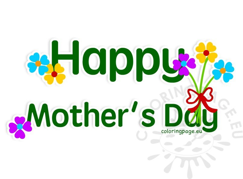 Happy mothers day 2017 clipart svg freeuse library Image Happy Mother\'s Day 2017 wishes – Coloring Page svg freeuse library